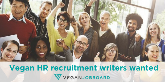 We'd like to invite vegan recruiters and HR managers to join our blog for vegan job seekers